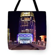 Nashville Sight Night Skyline Pinnacle Panorama Color Tote Bag