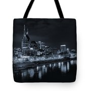 Nashville Skyline At Night Tote Bag