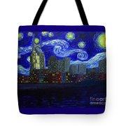 Dedication To Van Gogh Nashville Starry Nights Tote Bag