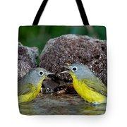Nashville Warblers Vermivora Ruficapilla Tote Bag