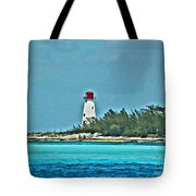 Nassau Bahama Lighthouse Tote Bag