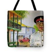 Nassau Bahamas Policeman Tote Bag