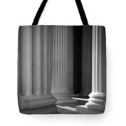 National Archives Columns Tote Bag by Inge Johnsson