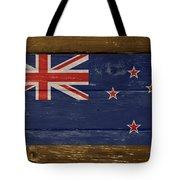 New Zealand National Flag On Wood Tote Bag