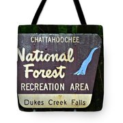 National Forest Recreation Area Tote Bag