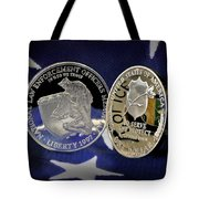 National Law Enforcement Memorial Mint Tote Bag by Gary Yost