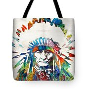 Native American Art - Chief - By Sharon Cummings Tote Bag