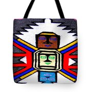 Native American Grey White Quilt Detail Tote Bag
