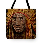 Native American In Wood 1886 Tote Bag