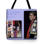 Native American Proverb Tote Bag
