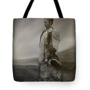 Native American Two Woman Bw Tote Bag