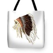 Native American War Bonnet - Plains Indians Tote Bag