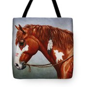 Native American War Horse Tote Bag by Crista Forest