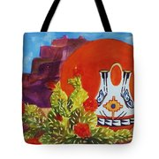 Native American Wedding Vase And Cactus Tote Bag