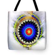 Native American White Fur Headdress Tote Bag