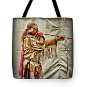 Native American With Blowgun Tote Bag