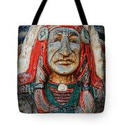 Native American Wood Carving Tote Bag