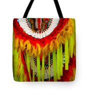 Native American Yellow Feathers Ceremonial Piece Tote Bag