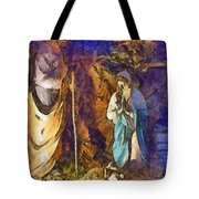 Nativity Scene Tote Bag