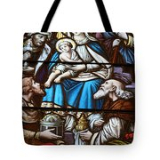 Nativity Stained Glass Tote Bag