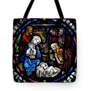 Nativity With Shepherds Tote Bag