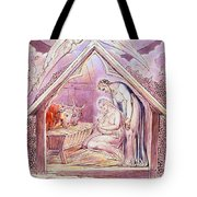 Nativity With Two Angels Tote Bag