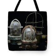 Natuical - Vintage Ship Deck Lights Tote Bag