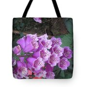 Natural Bouquet Bunch Of Spiritul Purple Flowers Tote Bag