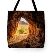 Natural Cave Above The Valley Of Fire Tote Bag