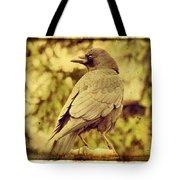 Natural Crow Tote Bag