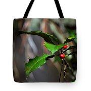 Natural Holly Decor Tote Bag