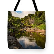 Natural Pool - The Beautiful Scene Of The Seven Sacred Pools Of Maui. Tote Bag