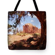 Natural Wood Frame Tote Bag