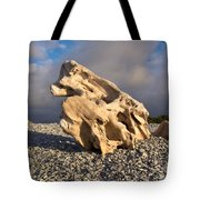 Naturally Sculpted Waterworn Wood On Pebble Beach Tote Bag
