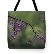 Nature Does Not Hurry Blossoms In Purple Tote Bag