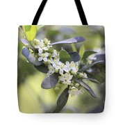 Nature Path Flower Tote Bag