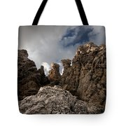 A Stunning Rock Wall Becomes A Wild Nature Sculpture In North Coast Of Minorca Europe Tote Bag
