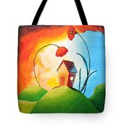 Nature Spills Colour On My House Tote Bag by Nirdesha Munasinghe