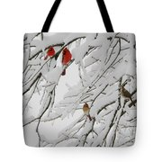 Nature's Christmas Ornaments Tote Bag
