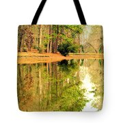 Nature's Green And Gold Tote Bag