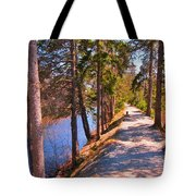Natures Highway Tote Bag