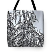 Natures Ice Sketch Abstract Tote Bag