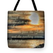 Natures Melody With Text Tote Bag