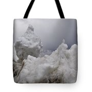 Nature's Snow Sculpture Tote Bag