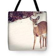 Natures Winter Visit Tote Bag
