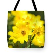 Natures Yellow Tote Bag by Lori Tambakis