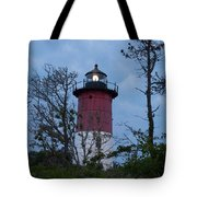 Nauset Lighthouse Amid The Scrub Pines Tote Bag
