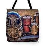 Nautical - Antique Dive Helmet Tote Bag