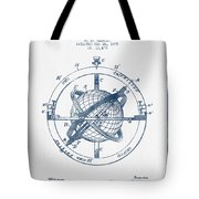 Nautical Observation Apparatus Patent From 1895  -  Blue Ink Tote Bag