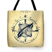 Nautical Observation Apparatus Patent From 1895 - Vintage Tote Bag